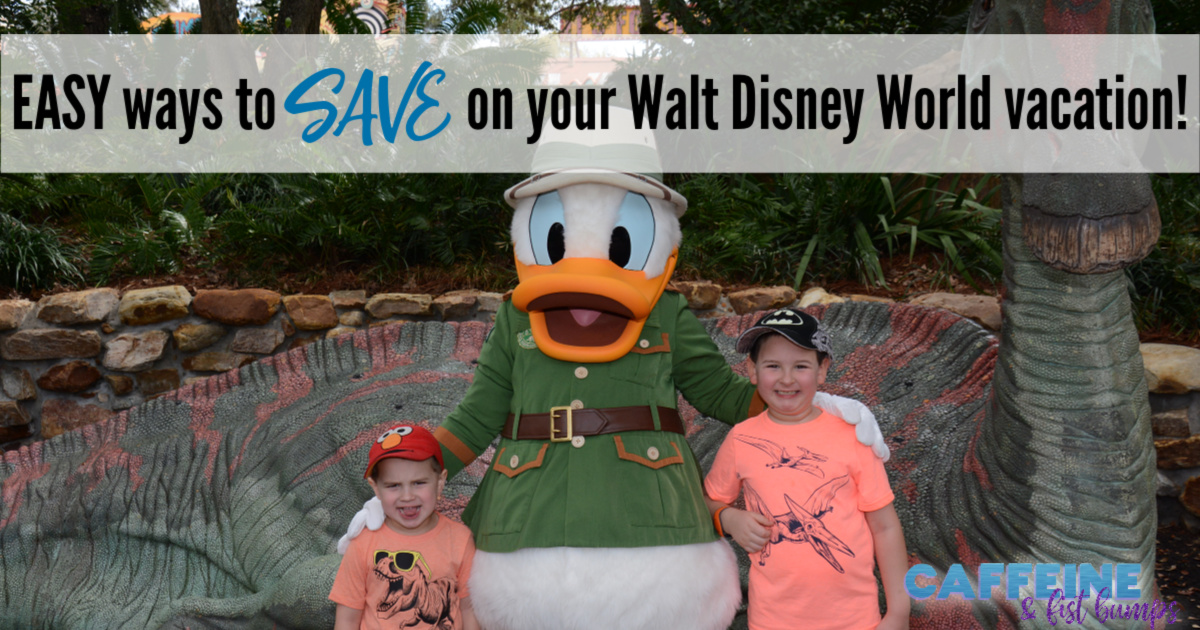 walt disney world save money budget easy caffeine and fist bumps family vacation