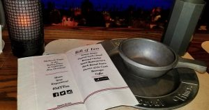 menu for Medieval Times, Lyndhurst, NJ