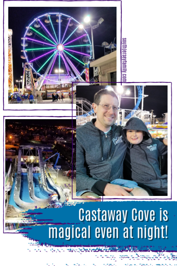 ferris wheel at playland's castaway cove in ocean city, new jersey