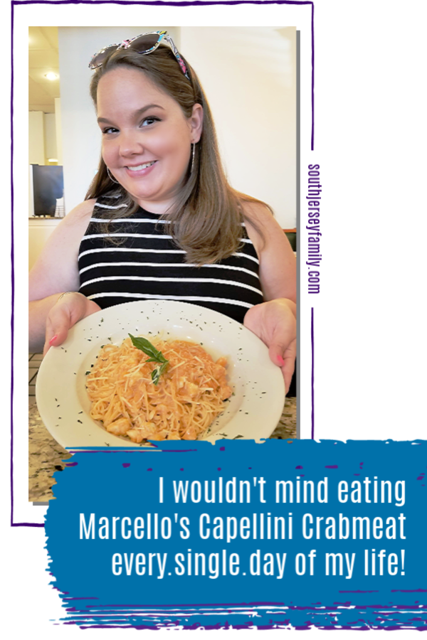 I wouldn't mind eating Marcello's Cappellini Crabmeat every day of my life!