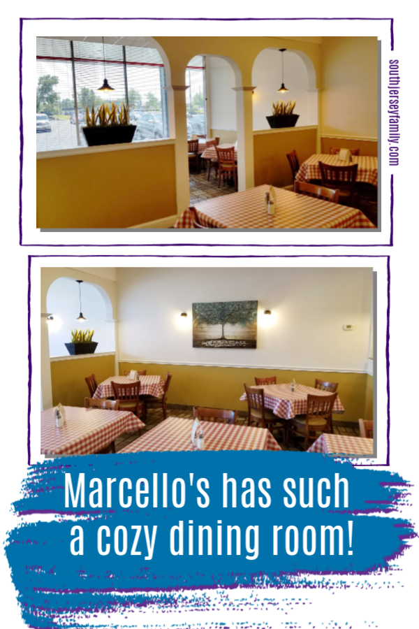 Marcello's has such a cozy dining room!
