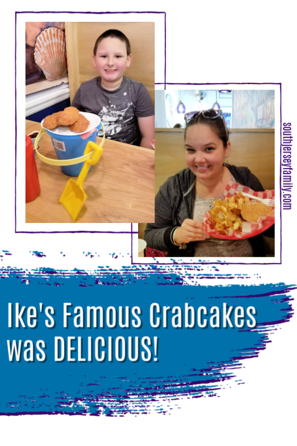 our lunch at Ikes Famous Crabcakes in Ocean City New Jersey