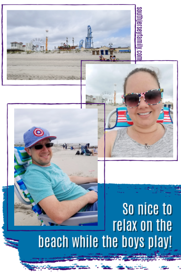 spending time on the beach in ocean city new jersey