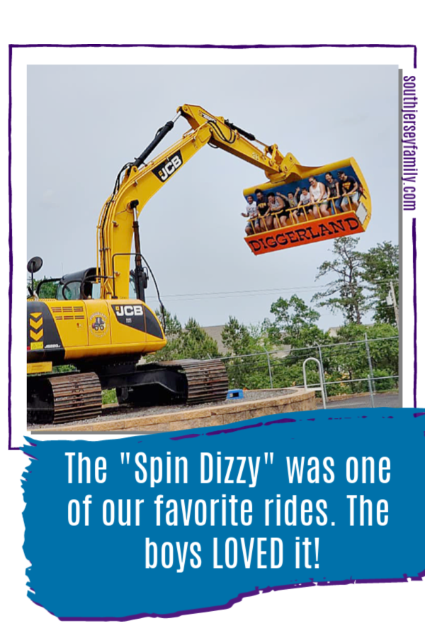 the spin dizzy was one of our favorite rides at Diggerland!