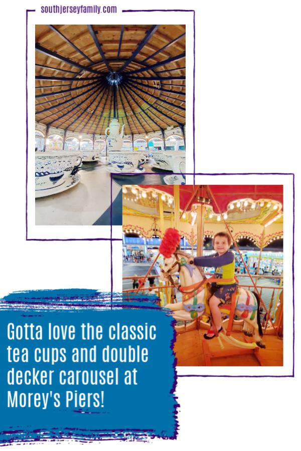 gotta love the classic tea cups and double decker carousel