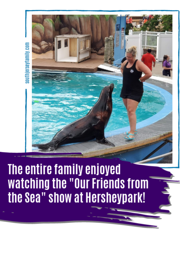 """the entire family enjoyed watching the """"our friends from the sea"""" show at Hersheypark"""