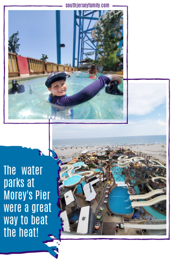 the water parks at morey's pier were a great way to beat the heat
