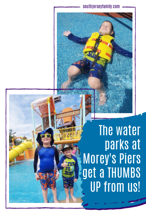 the water parks at morey's pier get a thumbs up from us!