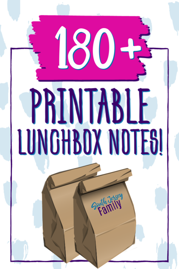 over 180 printable lunchbox notes