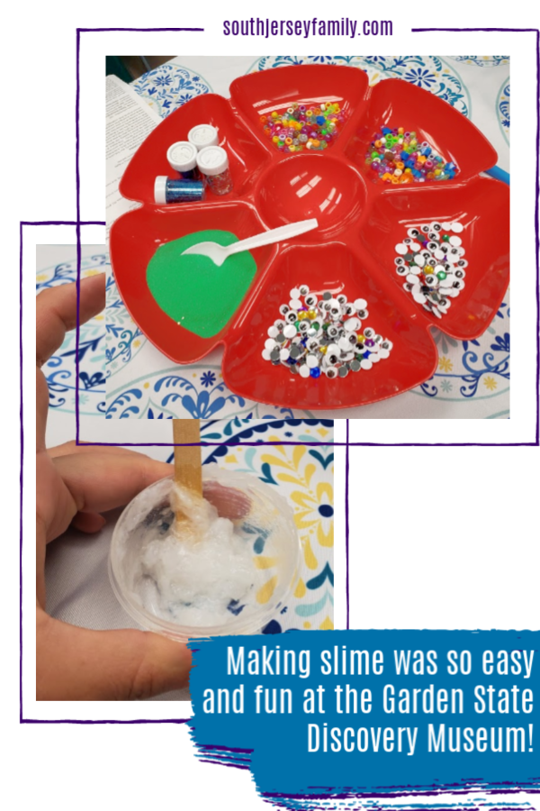 Making slime is fun and easy at the Garden State Discovery Museum!