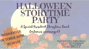 Halloween Story Time Party @ Pennsauken Free Library