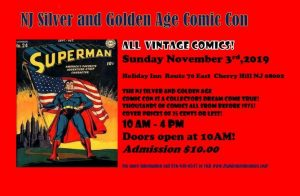 NJ Silver and Golden Age Comic Con @ Holiday Inn Philadelphia - Cherry Hill