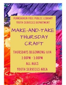 Make and Take Craft @ Pennsauken Free Public Library