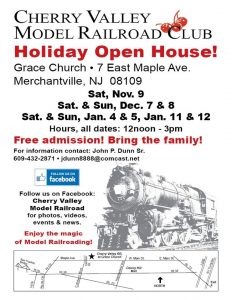 Cherry Valley Model Railroad Club Holiday Open House @ Grace Church